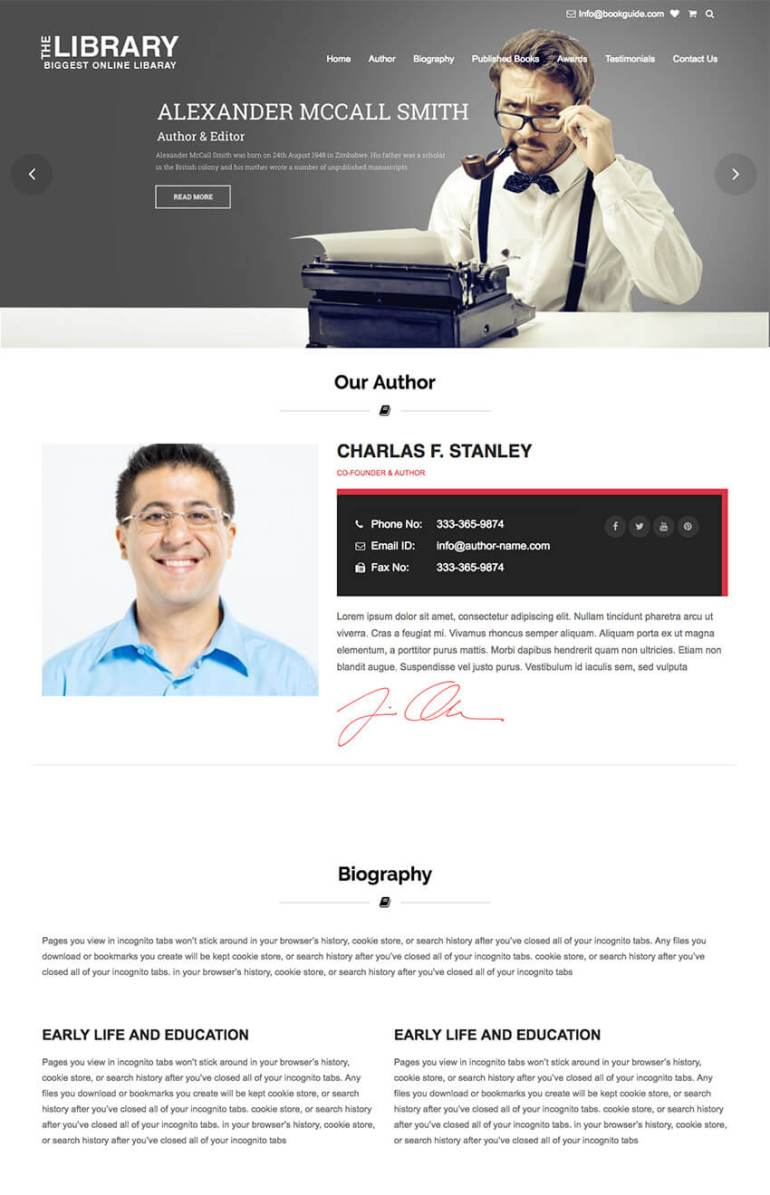 Book Guide Author WordpRess eBook Store Theme