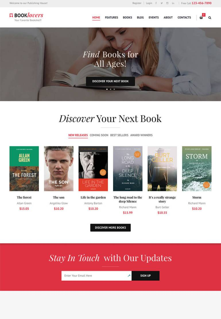 Booklovers Stylish eBook Author WP Theme