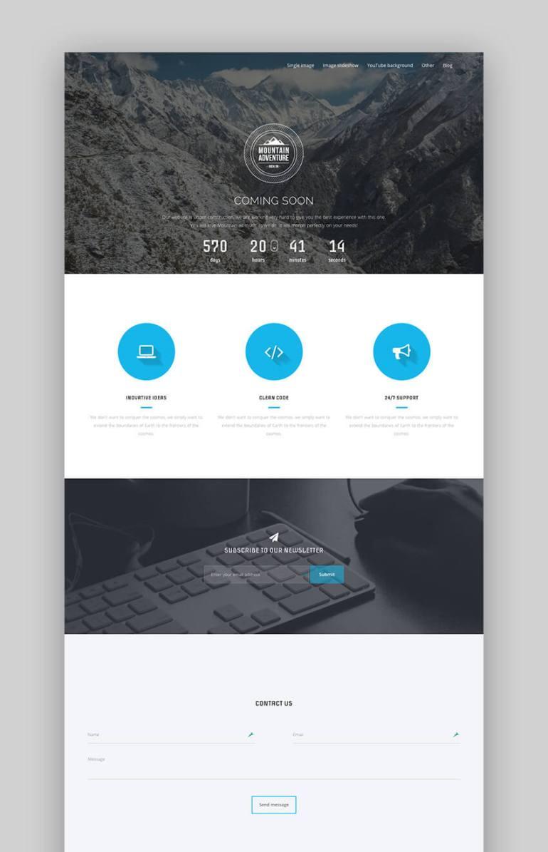 Mountain flat WordPress website theme design