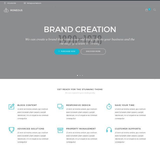 Moderne WordPress website thema demo homepage