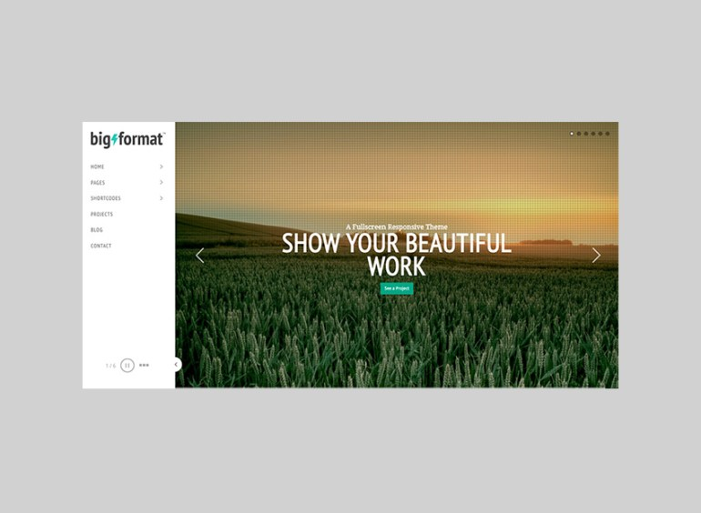 BigFormat WordPress Theme With Full-Screen Slideshows