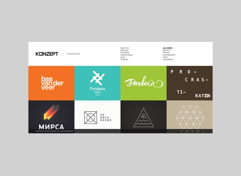 Konzept WordPress full-page template design