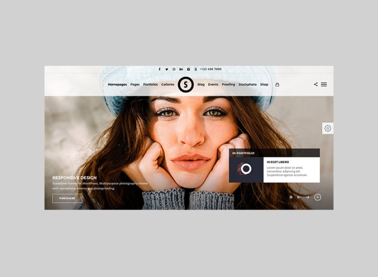 SceneOne Bright Full-Screen Website WordPress Theme
