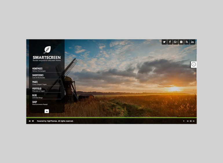 SmartScreen Fullscreen Responsive Dark WP Theme