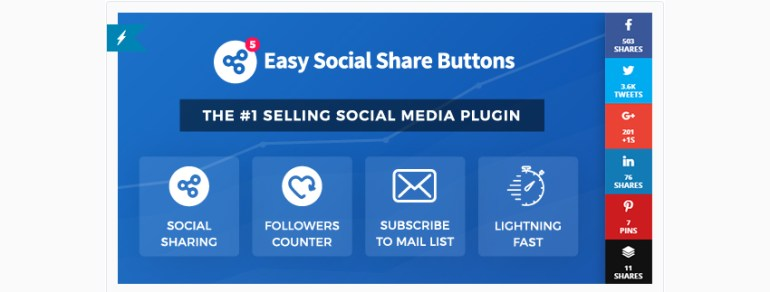 Easy Social Share Buttons WordPress Plugin