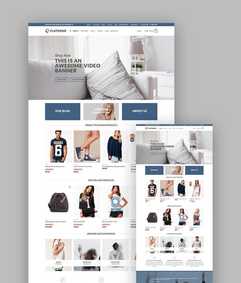 Flatsome WooCommerce Responsive template