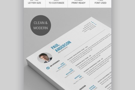 18  Modern Resume Templates With Clean  Elegant  Designs  2018  Clean Resume CV Template