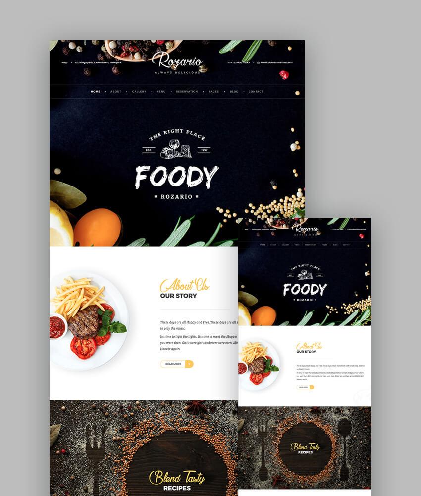 18 Best Responsive Restaurant Food Website Templates