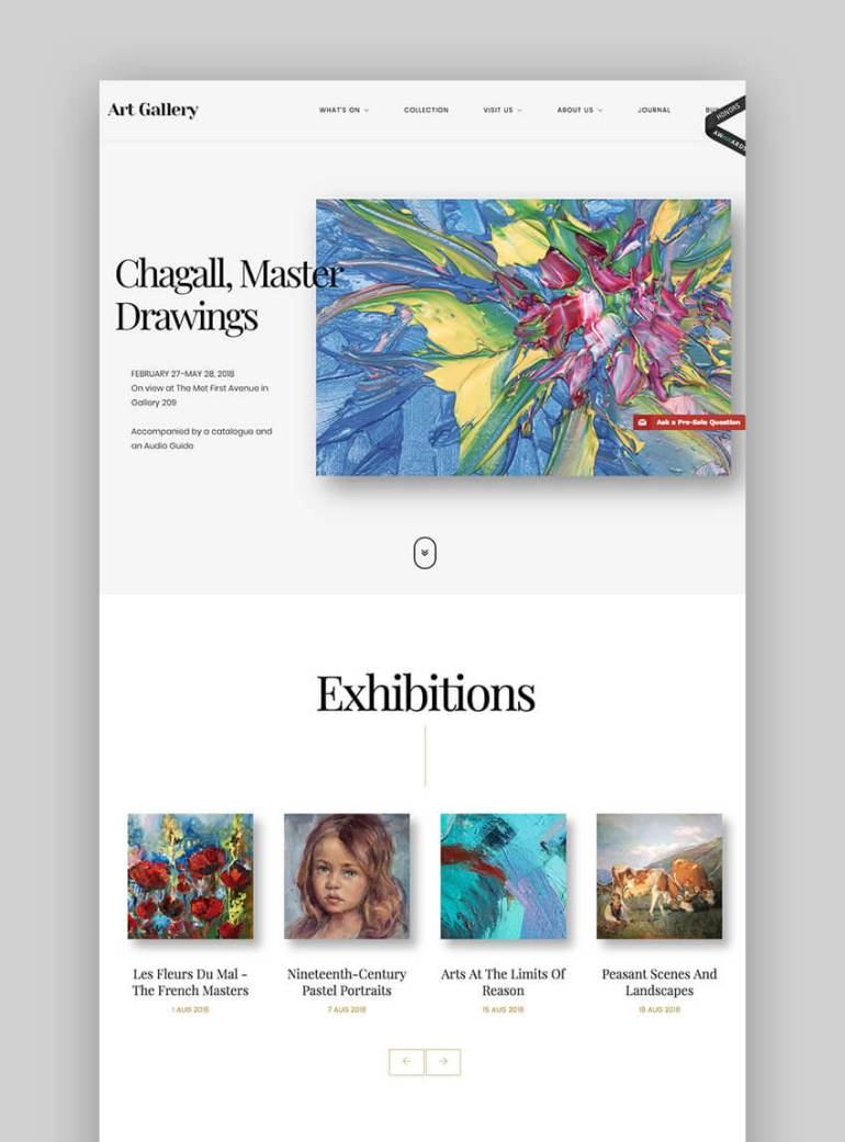 Arte WordPress Photography Theme