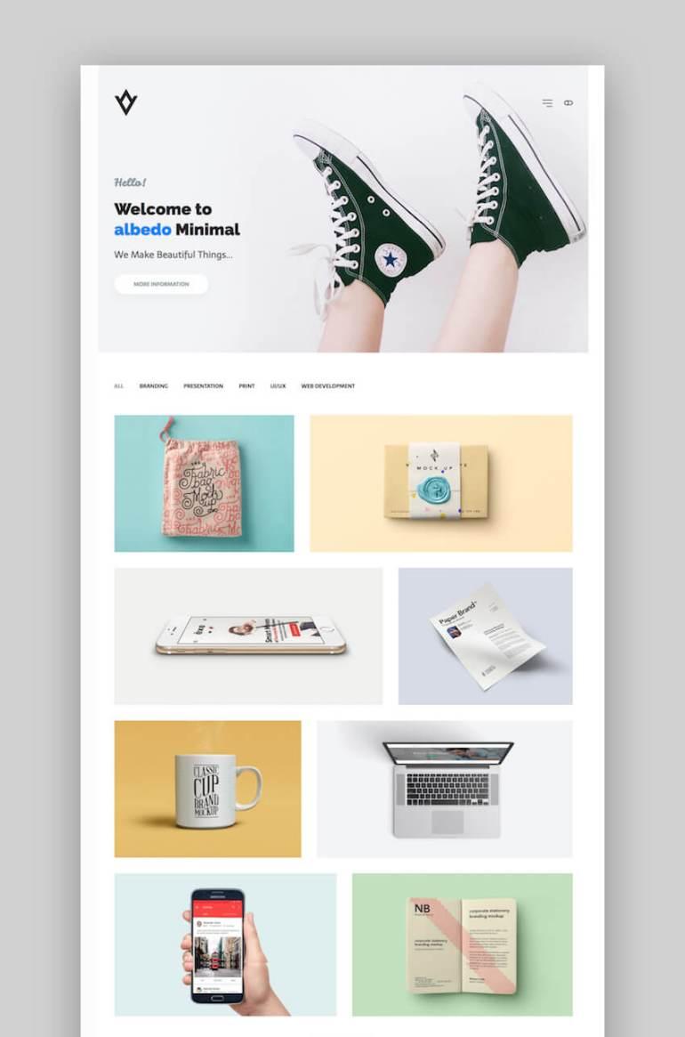 Albedo customizable portfolio WordPress theme