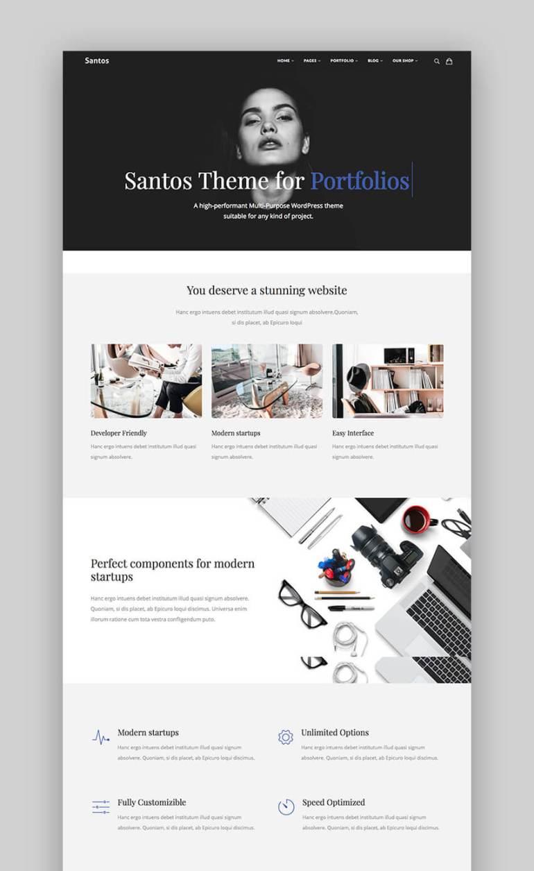 Santos portfolio themes