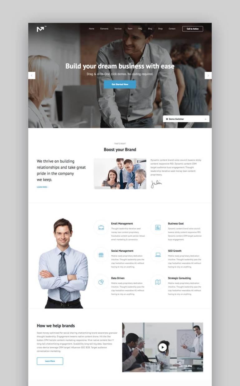 Marketing Pro small business WordPress theme