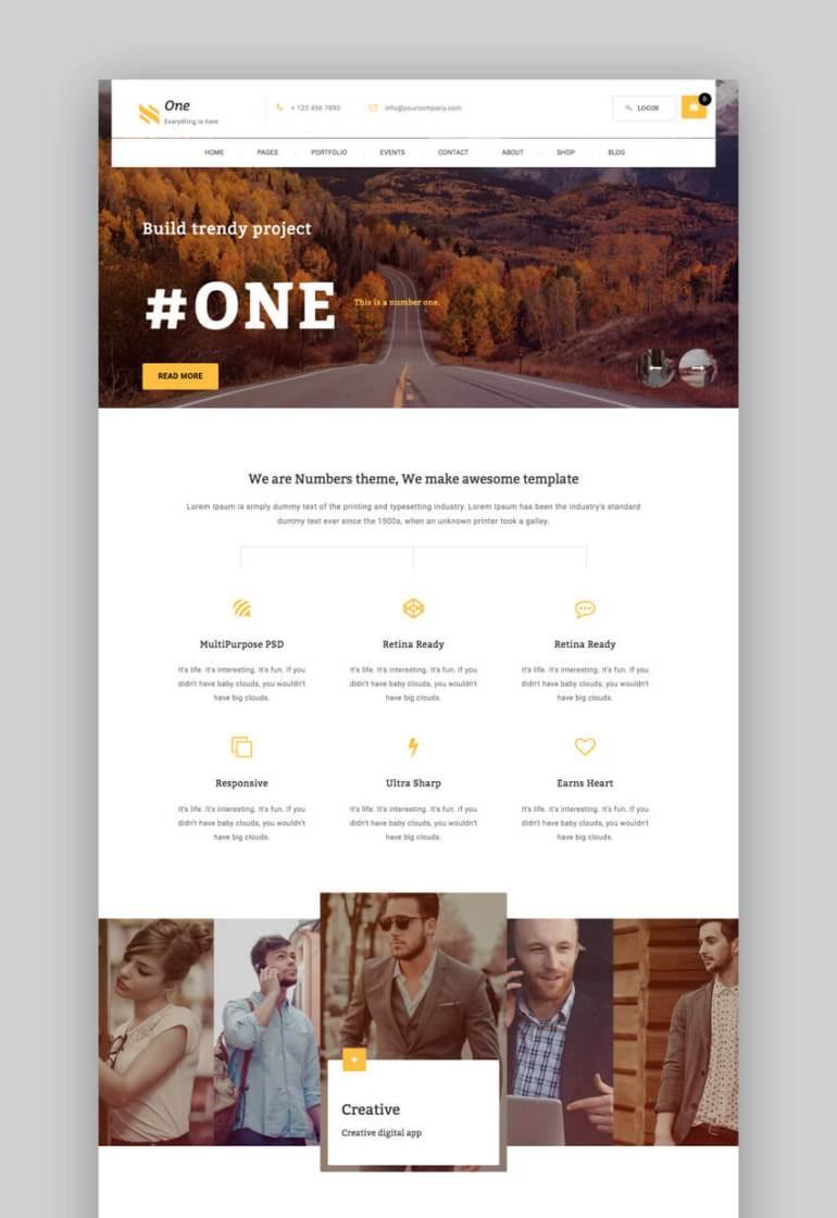 One small business WordPress theme