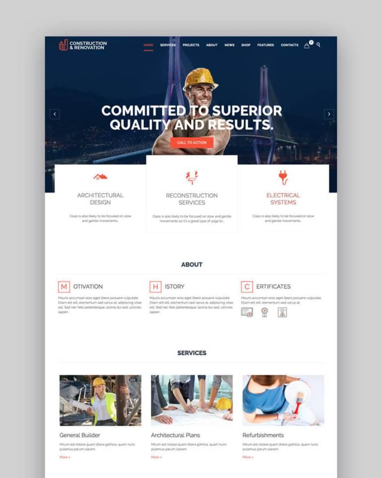 Construction Versatile Construction Theme