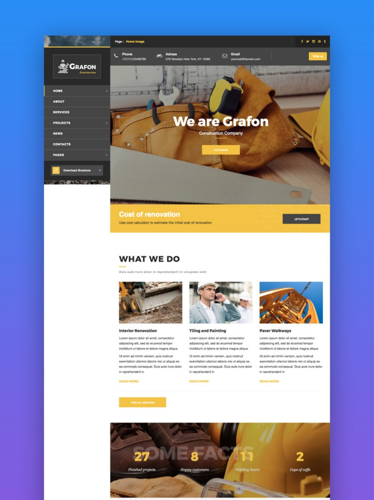 Grafon construction theme