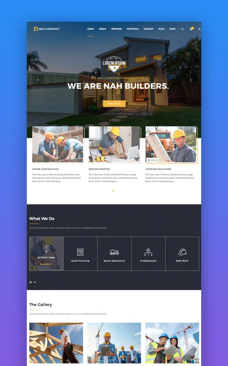 Nah Construction WordPress Theme