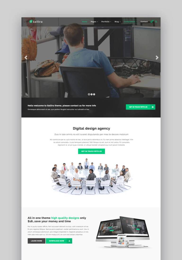 Sallira Multipurpose WordPress theme