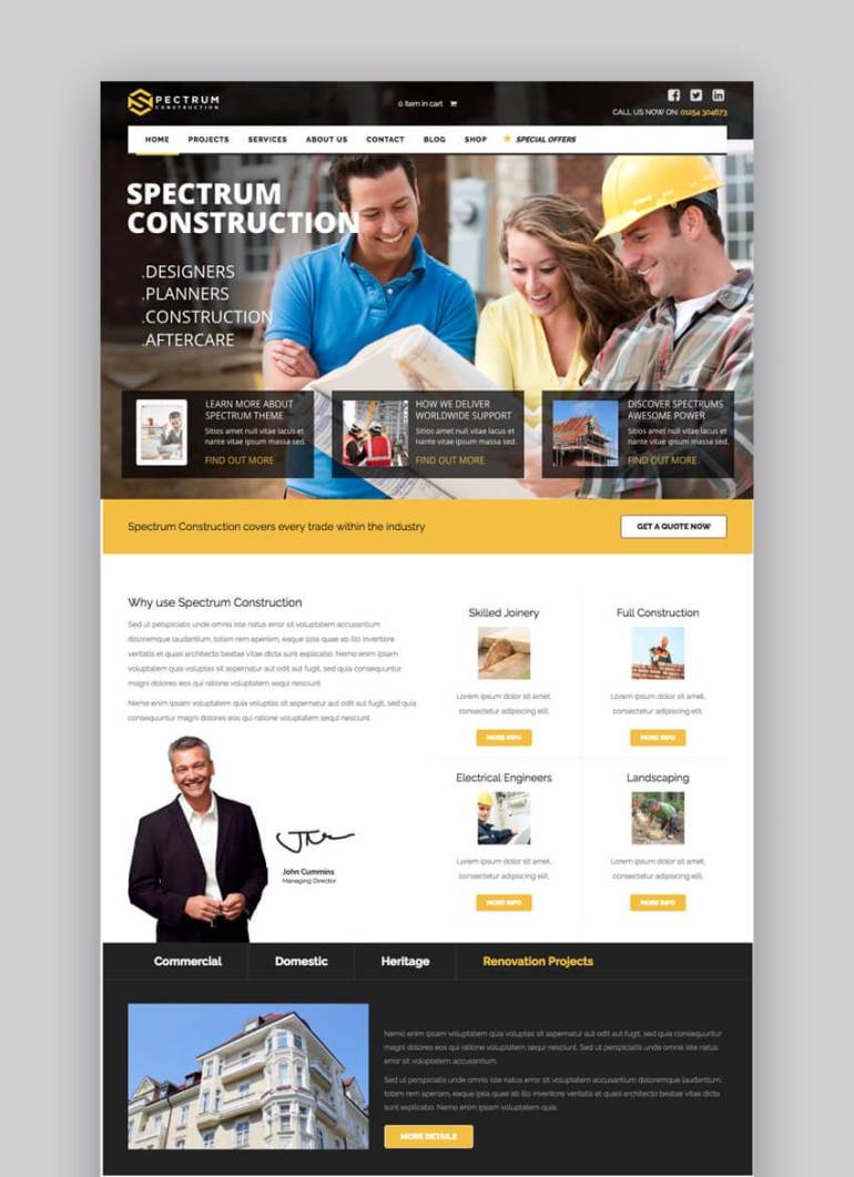 Spectrum Construction WordPress theme