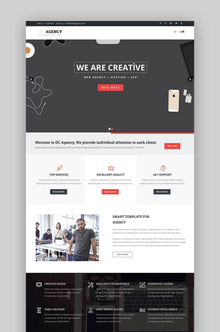 DC Agency SEO WordPress theme