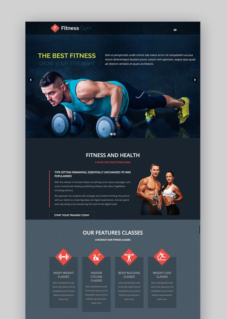 Fitness Gym WordPress fitness theme