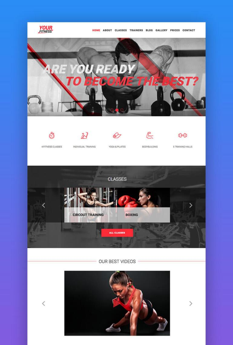 Your Fitness sport and fitness WordPress theme