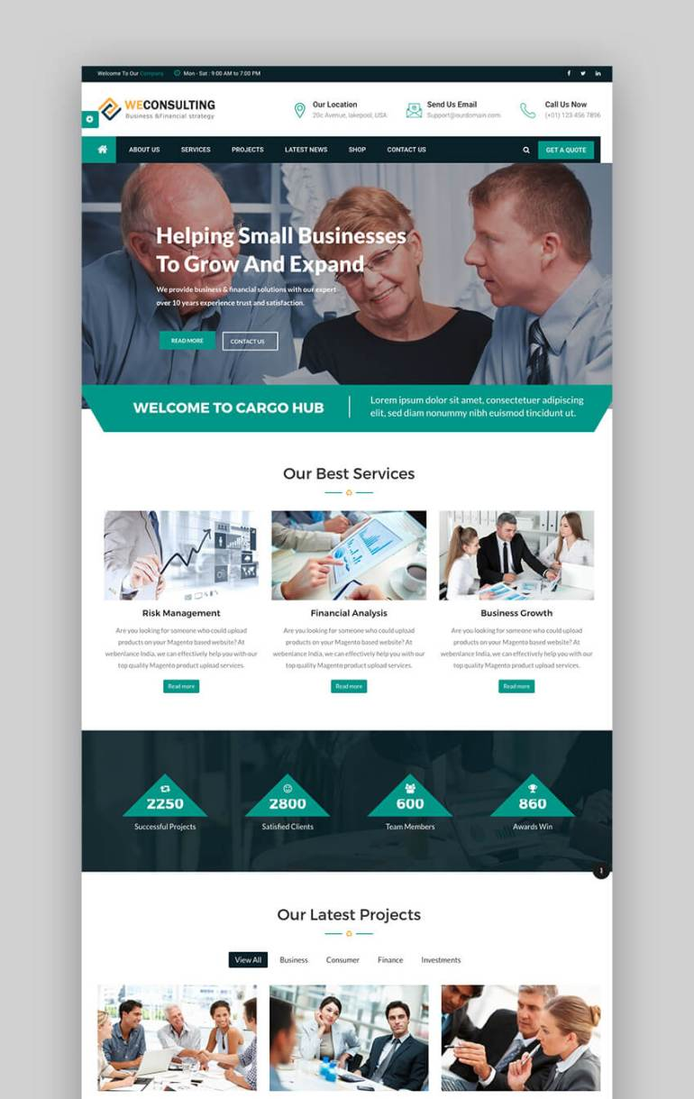 WECONSULTING Drupal theme for coaches