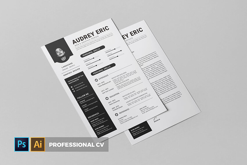 Resume Template With Qr Code