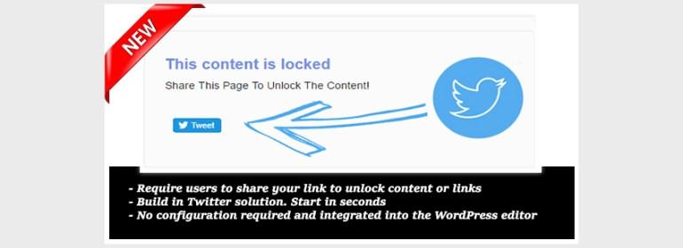 Tweet to Unlock for WordPress