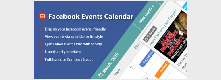 Facebook Events Calendar For WordPress