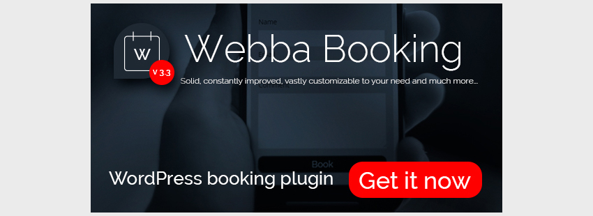 Webba Booking - WordPress Appointment Reservation plugin