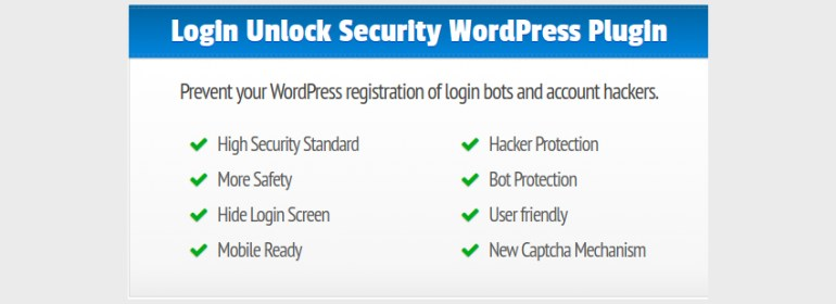LUS Login Unlock Security for WordPress a Modern and Safe Captcha Slide for WordPress Login