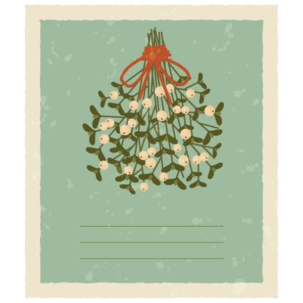 How To Create A Vintage Card With Mistletoe In Adobe