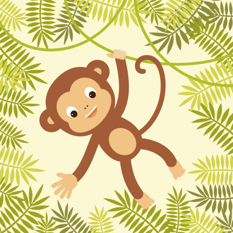 Finished monkey illustration