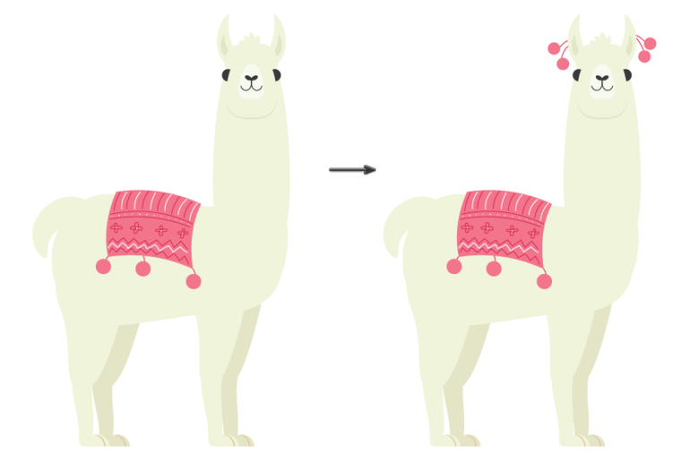 how to place the blanket on the lama