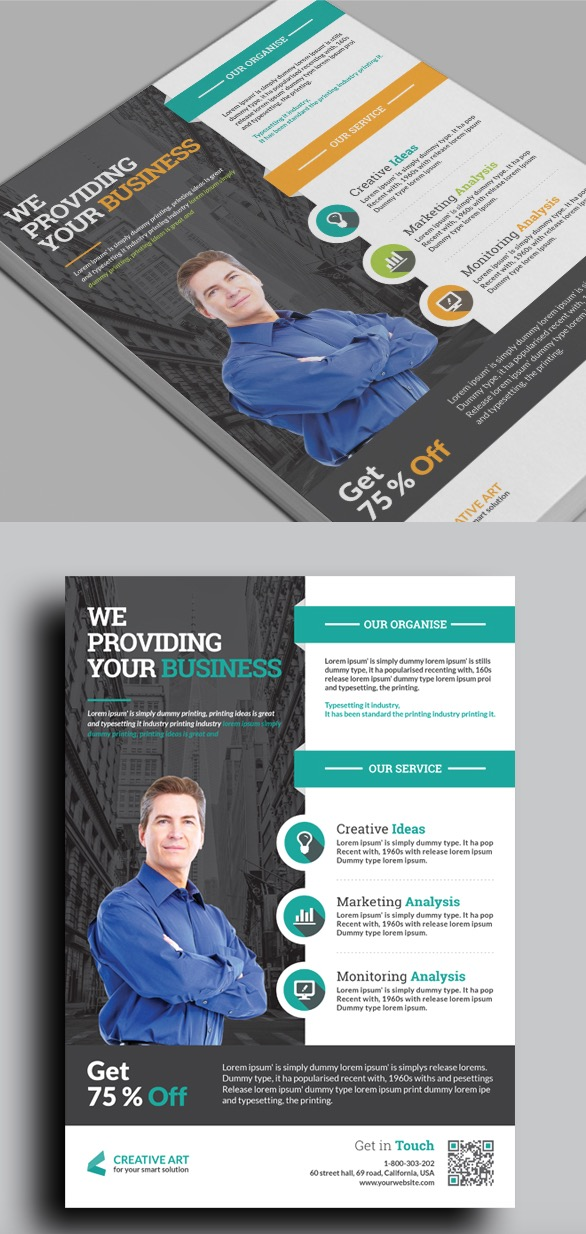 Progettazione aziendale Flyer aziendale