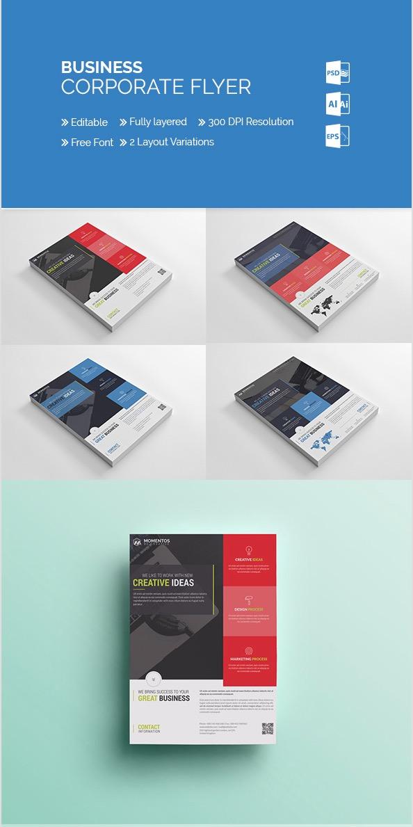 Flyer aziendale MomentStudio