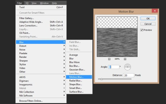 Creation of noise stripe
