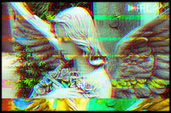 Final product image VHS effect Photoshop