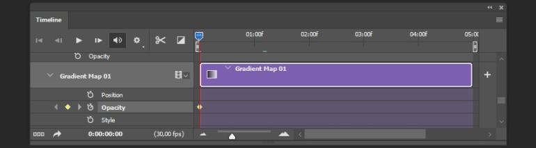 Creating animation for gradient map