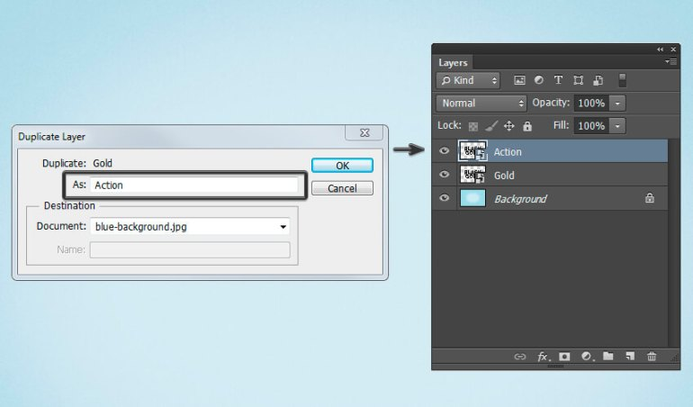 Create Action layer