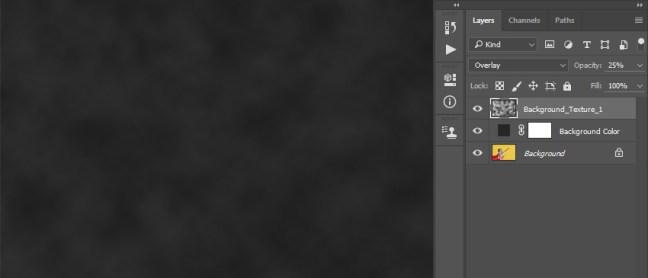 Cambiar el modo de fusión y la opacidad de la capa Background_Texture_1