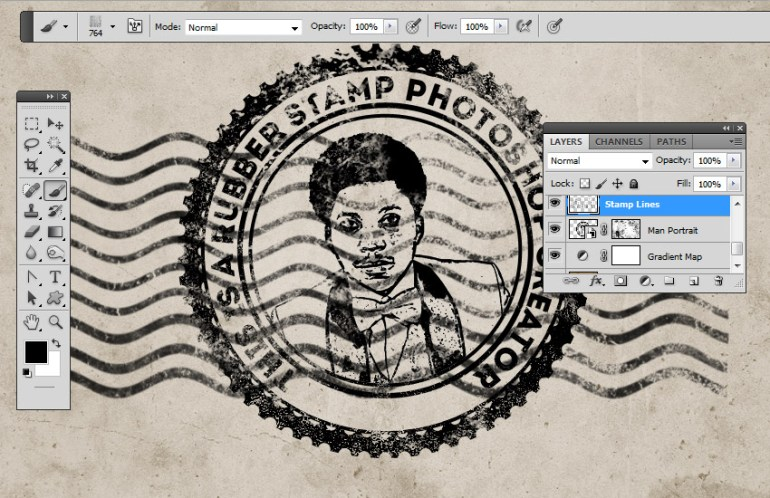 Stamp Line Photoshop Brushes