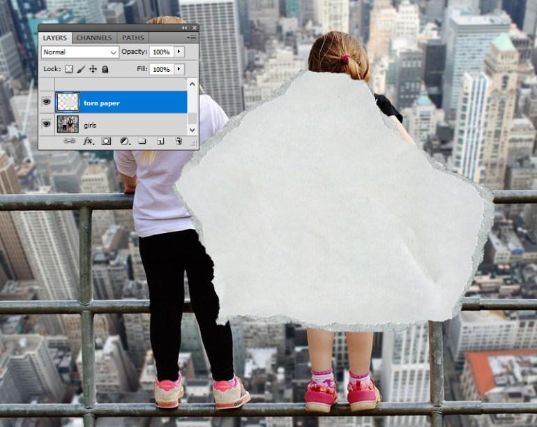 Add Torn Paper