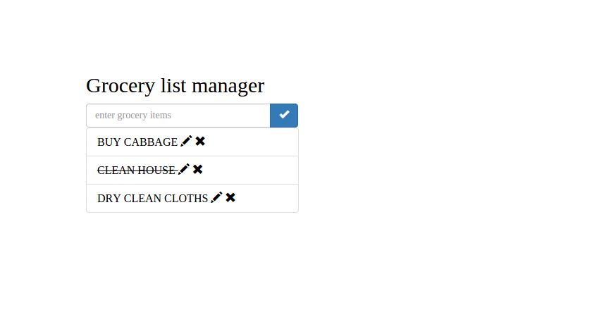 Grocery List Manager - Strike Out Completed Task