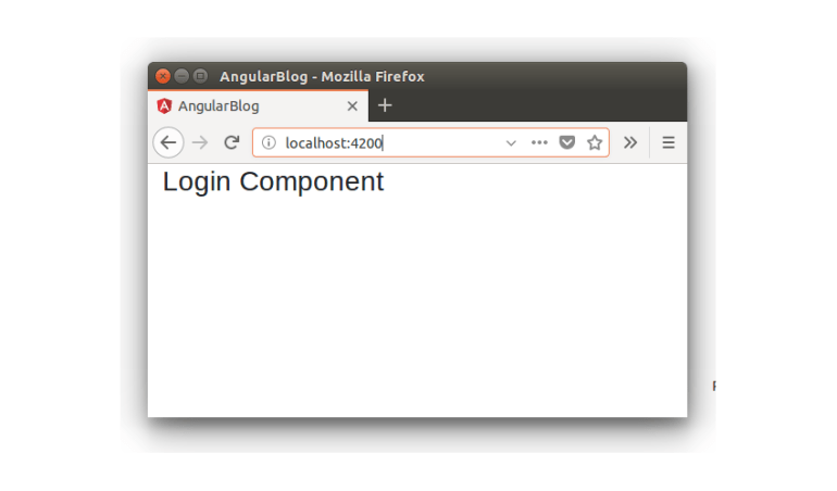 Login Component -  Blogging App