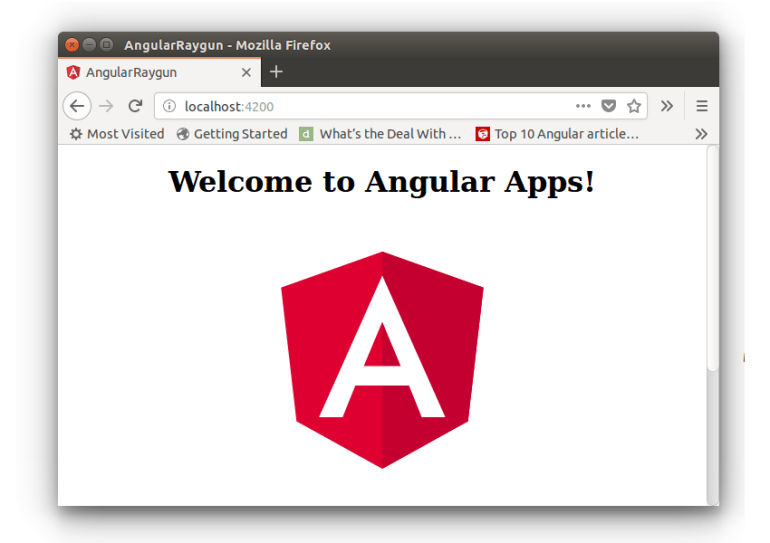 Angular App Default Home