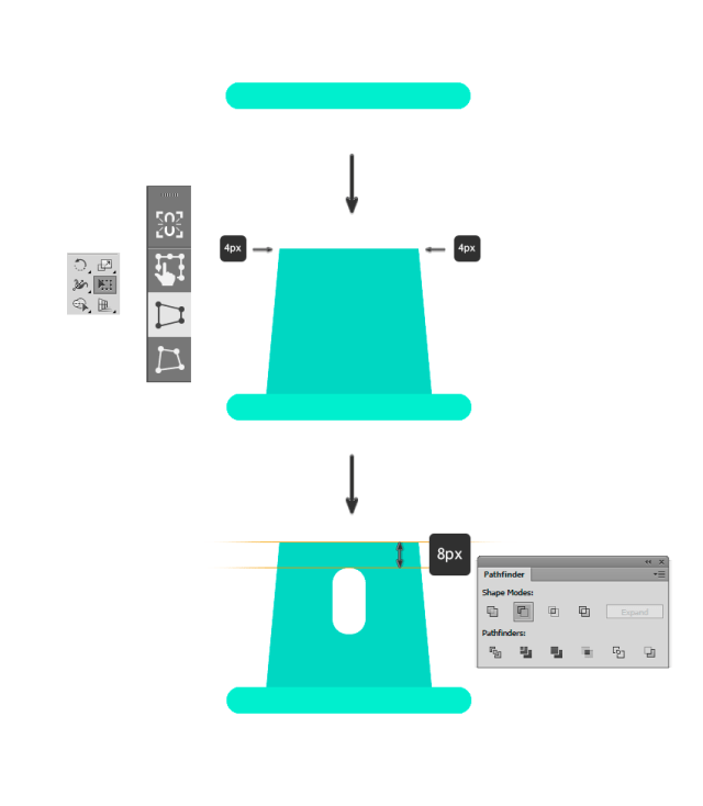 Creating rectangles for the base of the Mac