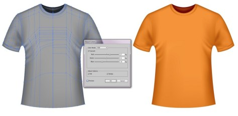 orange vector t-shirt template