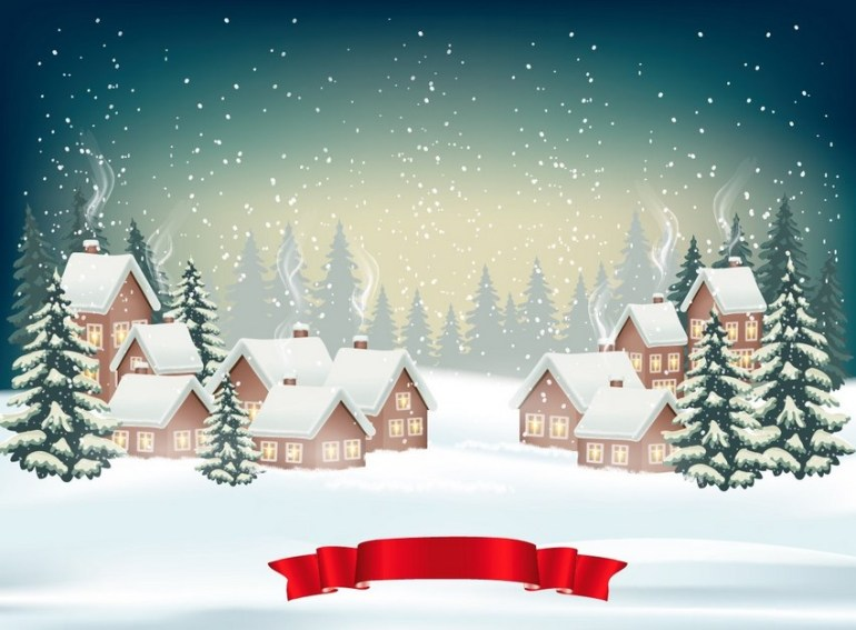 christmas winter background design