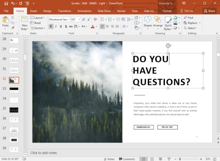 PowerPoint QA questions slide PPT